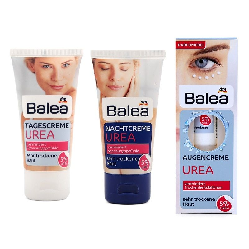 Quality Balea Urea Skin Care Set Day Cream+Night Cream+Eye Contour Cream with 5%Urea Cream for Very Dry Skin Intensive moisture