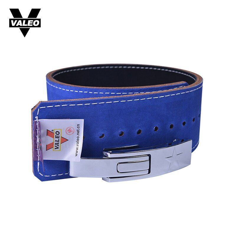 VALEO Cowhide Leather Weightlifting Belt Men Lumbar Protection Gym Fitness Training Squats Powerlifting Back Weight Lifting Belt