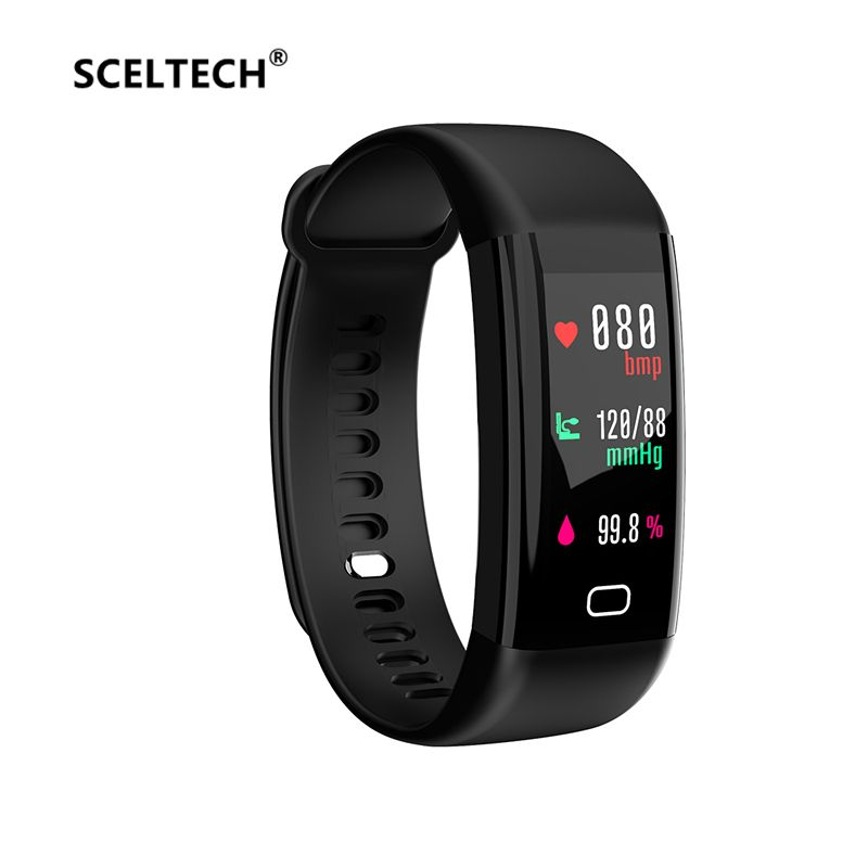 SCELTECH Waterproof F07 Smart Bracelet Heart Rate Monitor Blood Pressure Fitness Tracker Smart band Sport Watch for ios android