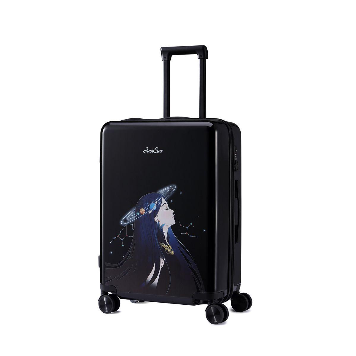 24-Inch Women Spinner trolley Braccialini Harajuku travel case TSA Girls Rolling Luggage PC Hardside Trolley Boarding Luggage