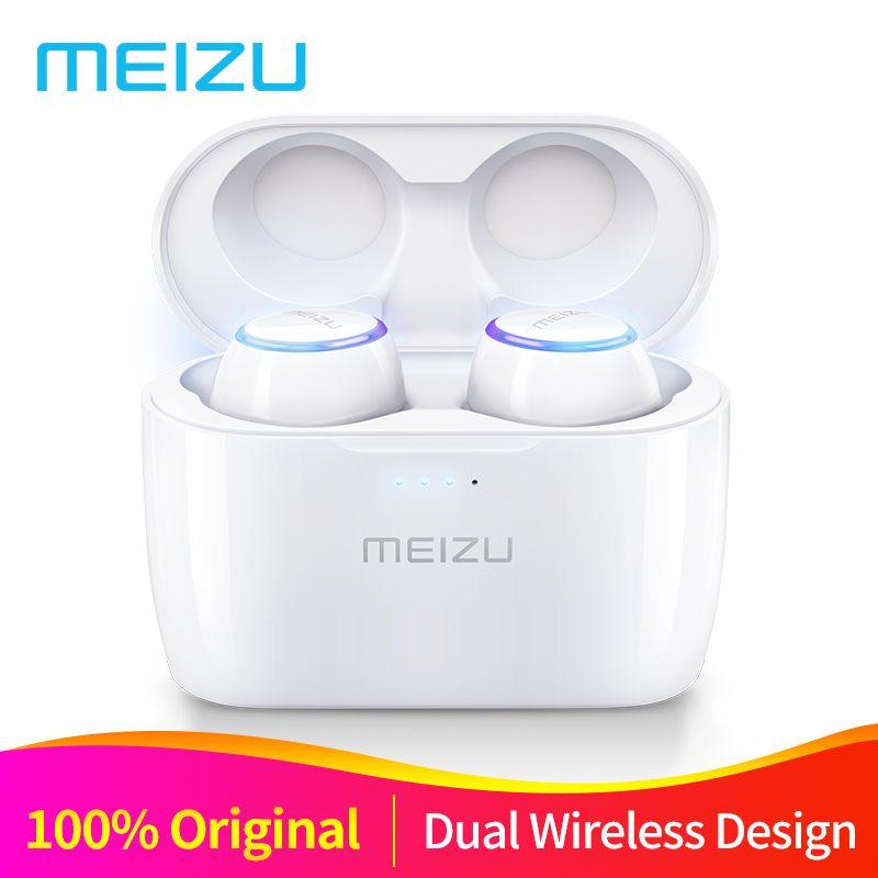 D'origine Meizu POP TW50 Double Sans Fil Écouteurs Bluetooth Écouteurs Sport In-Ear Écouteurs Casque Étanche Sans Fil De Charge