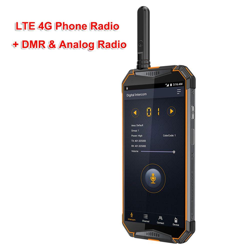 Ip68 Walkie Talkie Android8.1 LTE 4G Radio Telefon ulefone T3 DMR Digitale Radio UHF Transceiver GSM/WCDMA/ LTE Radio zello realptt