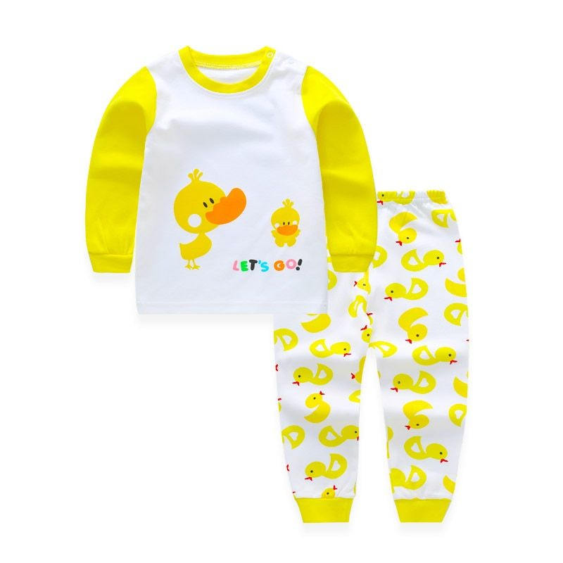 Toddler Pyjamas Kids Baby Suit Boy Clothes Set Long Sleeve Sets Baby Boys Outfits Baby Girl Outfit Clothing Children Pajamas Set