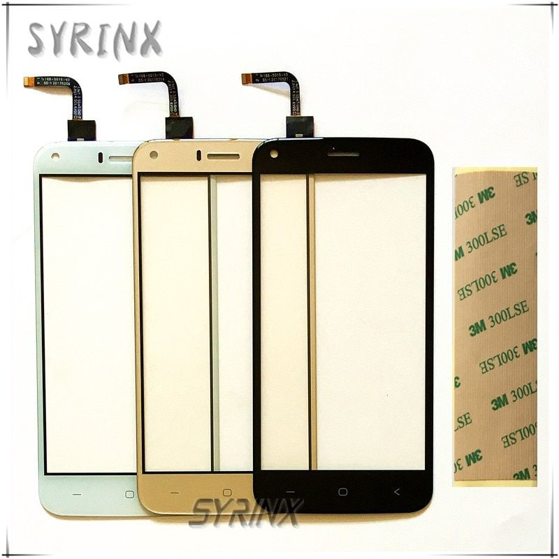 Syrinx phone touch panel For Umi London touch screen digitizer front glass replacement For Umi London touch sensor With Tape