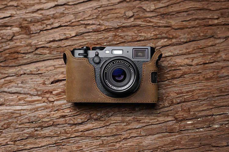 Mr. stein Handmade Echtem Leder Kameratasche Für FujiFilm X100F Fuji x100f X100-F Kamera Halb Tasche Körper Öffnen batterie