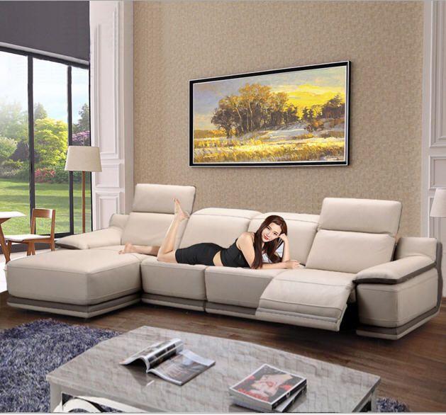 Wohnzimmer sitzgruppe ecksofa sofa liege elektrische couch echtem leder schnittsofas muebles de sala moveis para casa