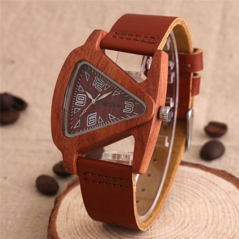 2016 Hombres Relojes de Lujo Relojes de Madera de Sándalo MOZUN Reloj de Cuarzo Vestido de Las Mujeres Relojes Señoras Reloj de pulsera para hombres Horas Montre Femme