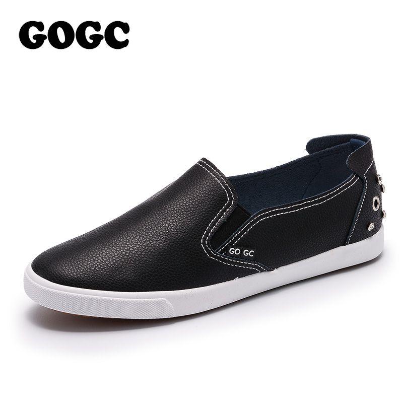 Gogc marca espárragos y cristal Zapatos mujeres suave diseño Zapatos mujeres de lujo 2018 Mocasines plata blanco mujeres sneakers casual zapatos