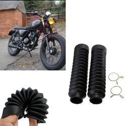 2 Pcs Moto Fourche Avant Couverture Gaiters Gators Boot Choc Protecteur poussière Garde pour Hors Route Pit Dirt Bike Motocross Vélo nouveau
