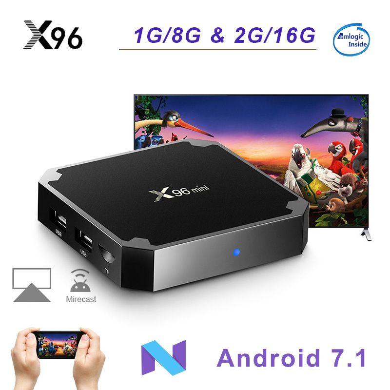 X96 mini Android 7.1 Smart TV BOX Amlogic S905W Quad Core WiFi 2.4GHz X96mini Set top box 4K HD Set-top Box Media Player