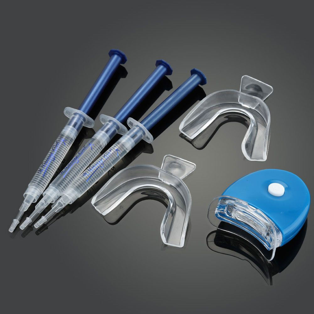 Ogreen 44%CP Professional Teeth Whitening Kit Bleaching System Bright White Smiles Teeth Whitening Gel Kit With LED Light