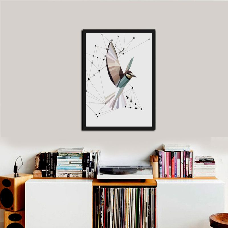 DCTOP Animal Creative Birds Spray Painting Wall Pictures Kids Room Canvas Art Print Poster Wall Decoration