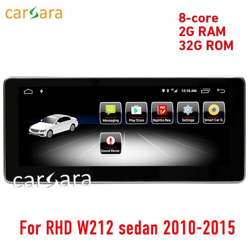 W212 video touchscreen 2G RAM Android rechtslenker limousine 10-15 10,25