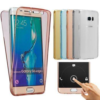 De luxe Doux 360 Degrés Pleine Couverture pour Samsung Galaxy S8 S9 Plus S6 S7 bord J1 J3 J5 J7 A3 A5 A7 2016 2017 A8 2018 Pro Cas