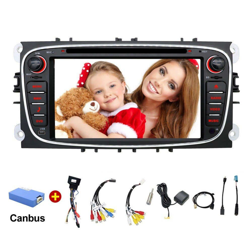2 din Android 7.1 Quad Core Car DVD Player GPS Navi for Ford Focus Mondeo Galaxy with Audio Radio Stereo Head Unit