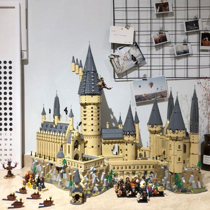 In Stock Harri Movie Potter 6044pcs Hogwarts Castle School Model Compatible with Legoings 71043 Set Building Blocks Kids Toys