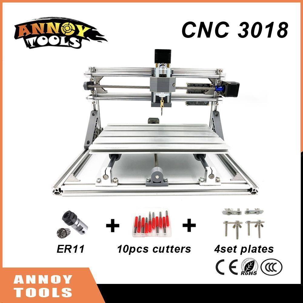 High Quality CNC 3018 DIY CNC Laser Engraving Machine 0.5-5.5w laser, Pcb Milling Machine,Wood Carving machine,cnc router,GRBL