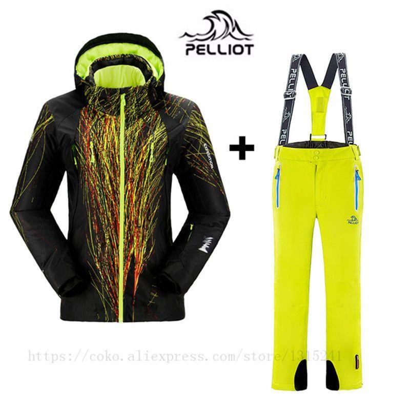 PELLIOT Brand Ski Suit Women Outdoor Mountain Skiing Suit Winter Waterproof Windproof Ski Jakcet + Snowboard Pants Thicken Warm