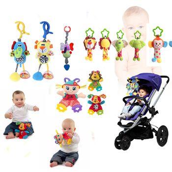 Baby Kids Rattles Toys Cotton Stroller Pram Crib Hanging Soft Plush Toys Animal Clip Baby Crib Bed Hanging Bells Toys 28 style