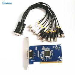 8ch HD DVR Definisi Tinggi/Analog Video Capture Card PCI, VGA output, 4ch audio input