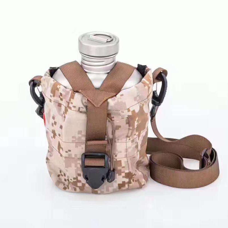 Keith Titanium Kettle Army Military Water Bottle Titanium Pot Canteen Mess Kit Set 1.1L+0.7L w/ Camo Bag Ti3060 Drop Shipping