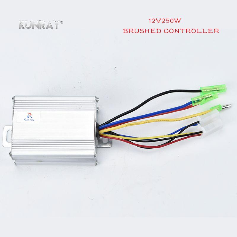 KUNRAY 12VDC 250 Watt Gebürstet Controller Für Elektrische Bürstenmotor Elektroroller Controller Fahrrad Ebike Teile Umbausatz