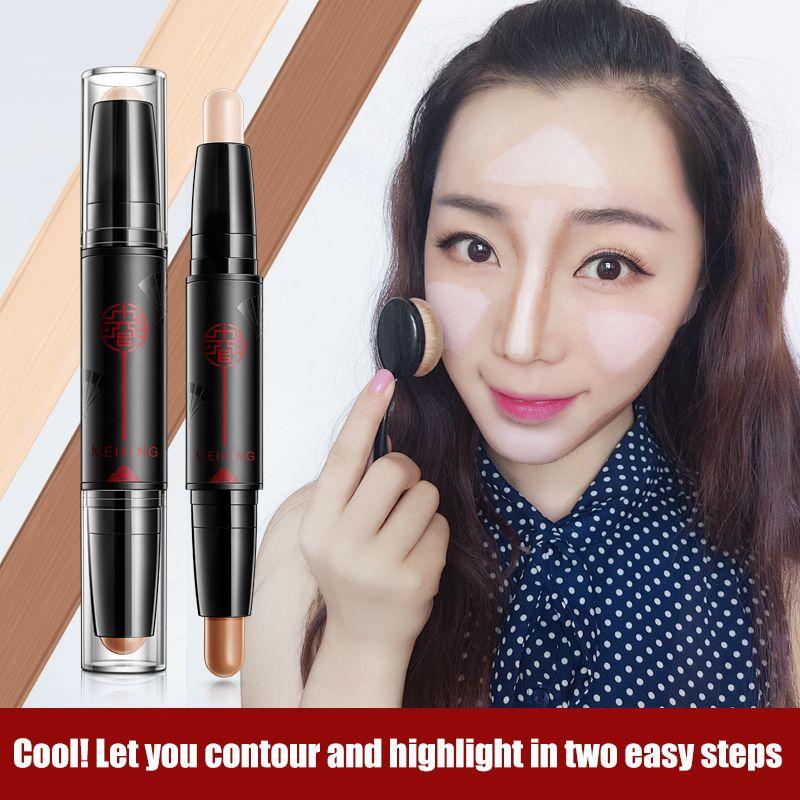 MEIKING lueur kit poudre surligneur maquillage Shimmer Bâton Crème Anti-cernes Égayer Bronzer Contour Visage Maquillage imperméable à L'eau Lumineux