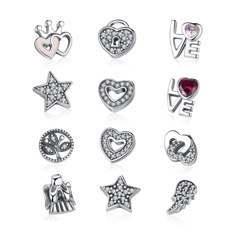 New Style Authentic 925 Sterling Silver Forever Hearts Petites Charm Fit Original Floating Necklace DIY Jewelry CRF101