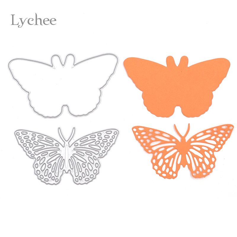 Lychee 1 Satz Schmetterling Rahmen Metall Scrapbooking Stanzungen Handwerk Dekorative Präge Stanzformen Schablonen Papierkarten Vorlage