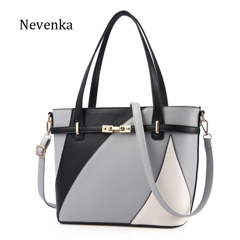 Nevenka Новый Дизайн Для женщин Мода Стиль сумки женские роскошные Цепи Сумки блестками сумка на молнии из высококачественной искусственной к...