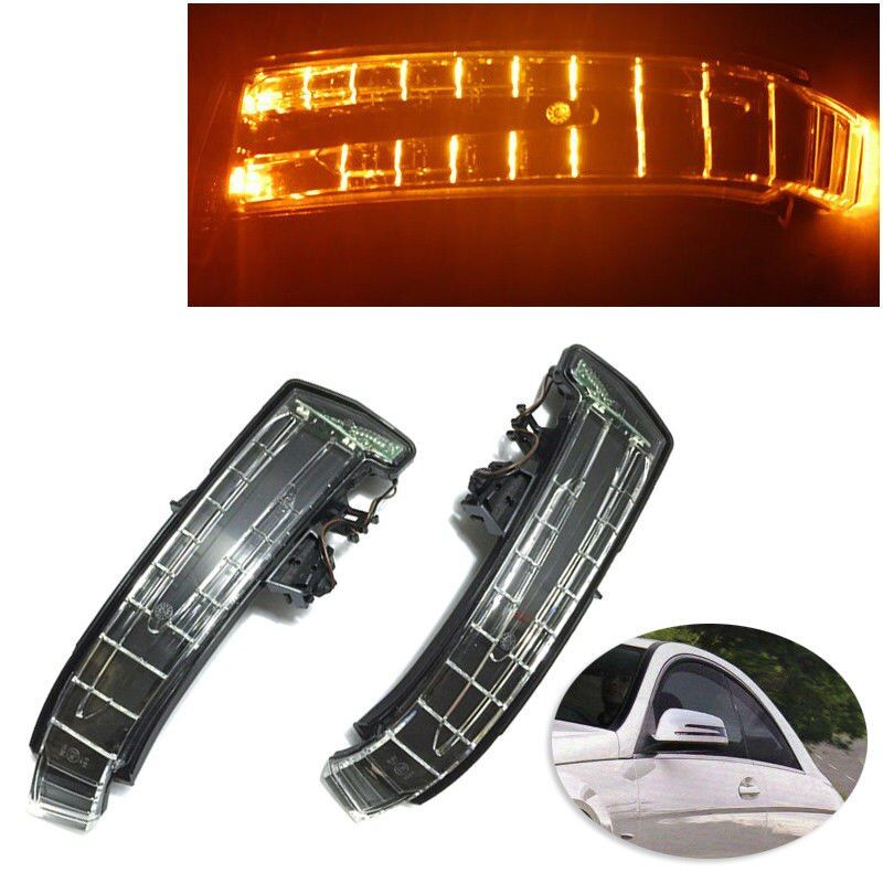 OEM Quality Side Mirror Turn Signal Light lens For Mercedes W204 W212 W221 LEFT AND RIGHT SIDE For Mercedes C200 LED Signals