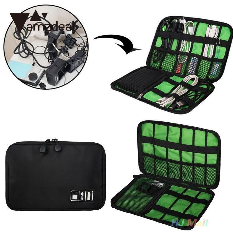 USB Flash Disque Dur Organisateur Numérique Lecteur Écouteurs Ligne de Données Gadget Case Sac De Rangement voyage sac Accessoires Électroniques Sac