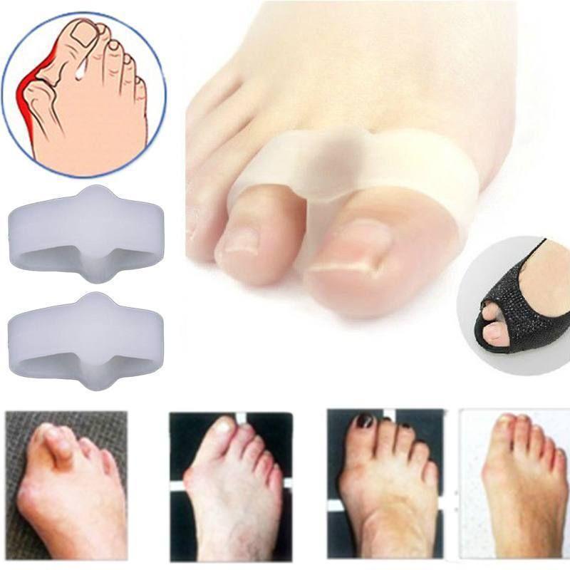 1Pairs 2 Holes Pain Relief Bunion Hallux Valgus Foot Toe Gel Separators Stretchers Straightener Feet Care Health Care Product