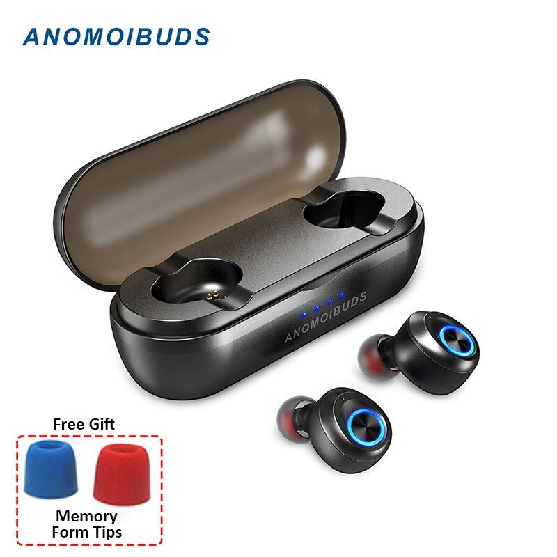 Anomoibuds Capsule Pro 50 Hour Playtime Support AAC TWS Earbuds V5.0 Bluetooth Earphone Deep Bass Hi-Fi Stereo Sound Earphone