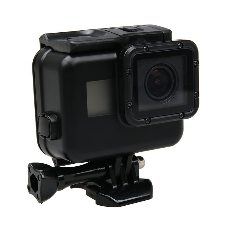 Black Waterproof Housing Case Touch Screen Back Door For <font><b>Gopro</b></font> Hero 5 Underwater Box For Go Pro Hero5 Camera Accessories