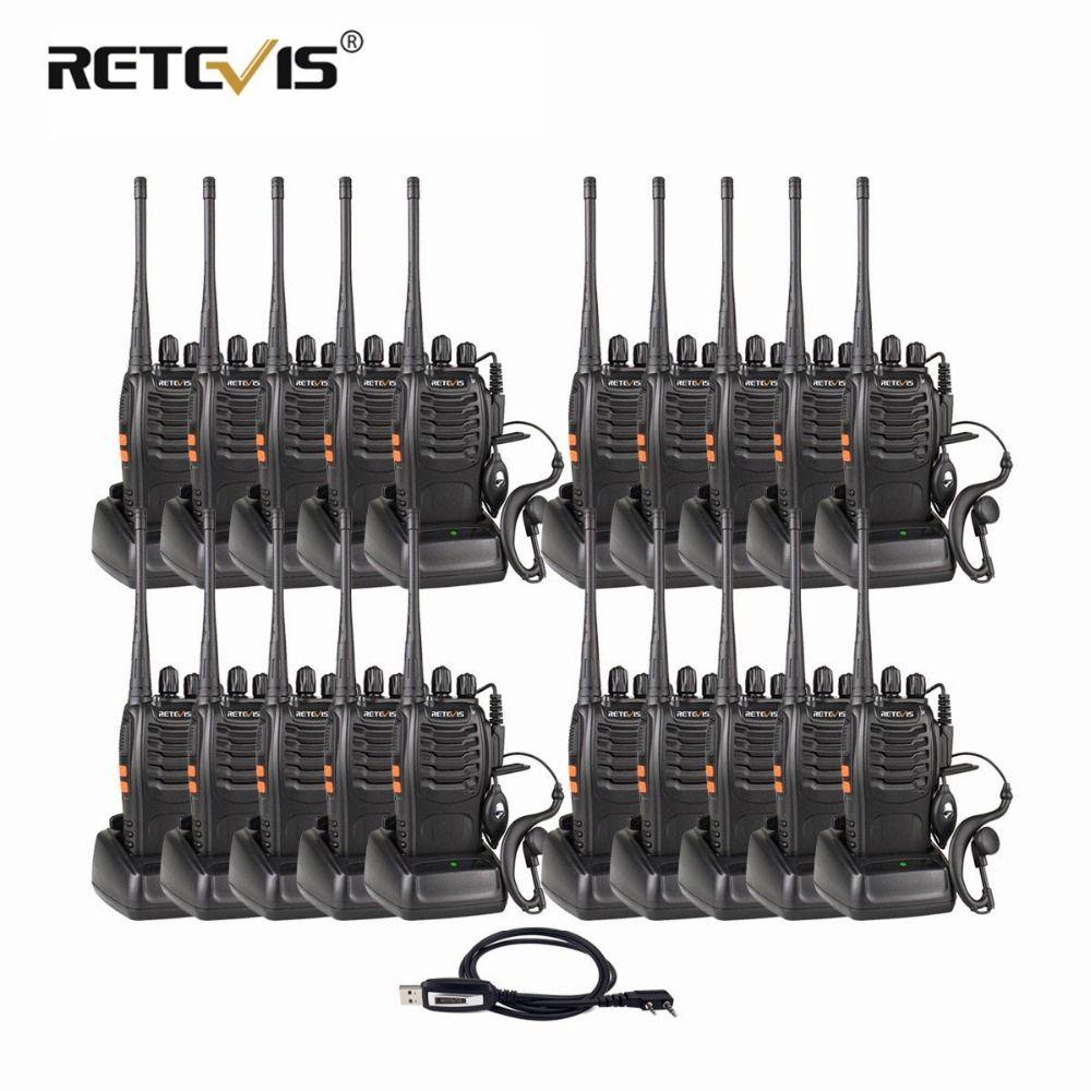 20pcs Retevis H777 Portable Walkie Talkie Handheld Hf Transceiver Hotel/Restaurant Two Way Radio Communicator Ham Radio Station