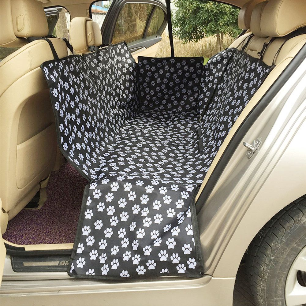 Waterproof Car Pet Seat Covers Coating Footprint Back Bench Collapsible Oxford Fabric Back Seat Cover Cars Support <font><b>Whole</b></font> Sale