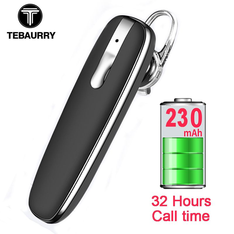 TEBAURYY Handsfree Business Bluetooth Earphone Headphones Wireless Bluetooth Headset with Microphone <font><b>Voice</b></font> control for Phone PC