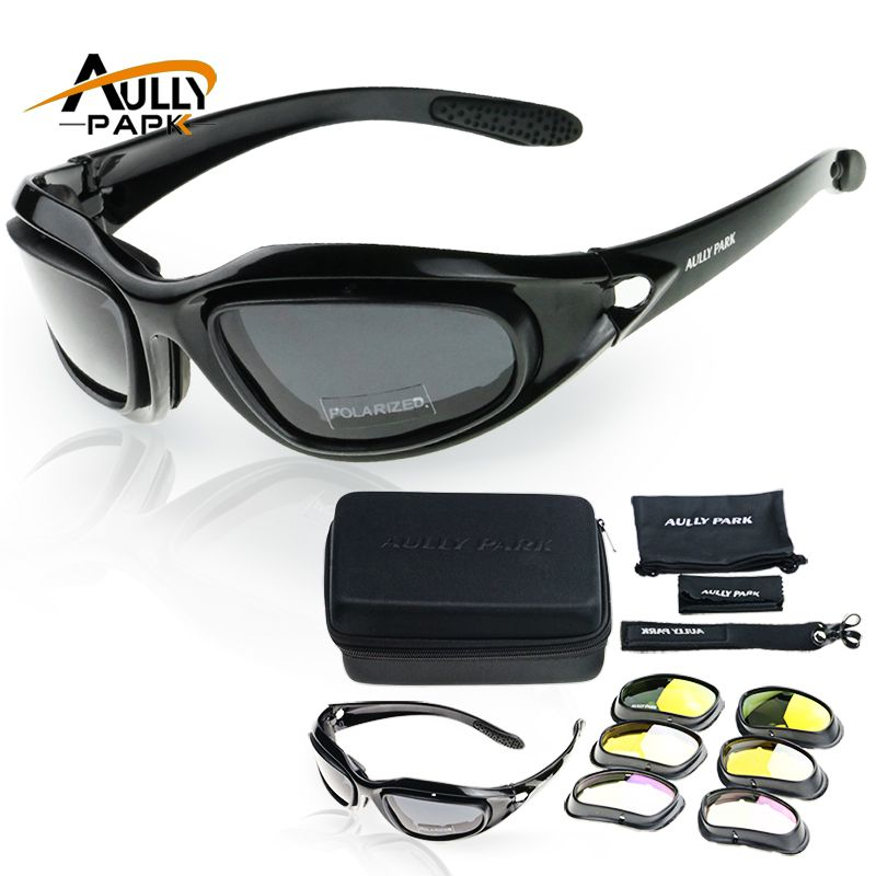 Motorcycle Glasses Army Polarized Sunglasses For Hunting Shooting Airsoft EyewearMen Eye <font><b>Protection</b></font> Windproof moto Goggles UV400