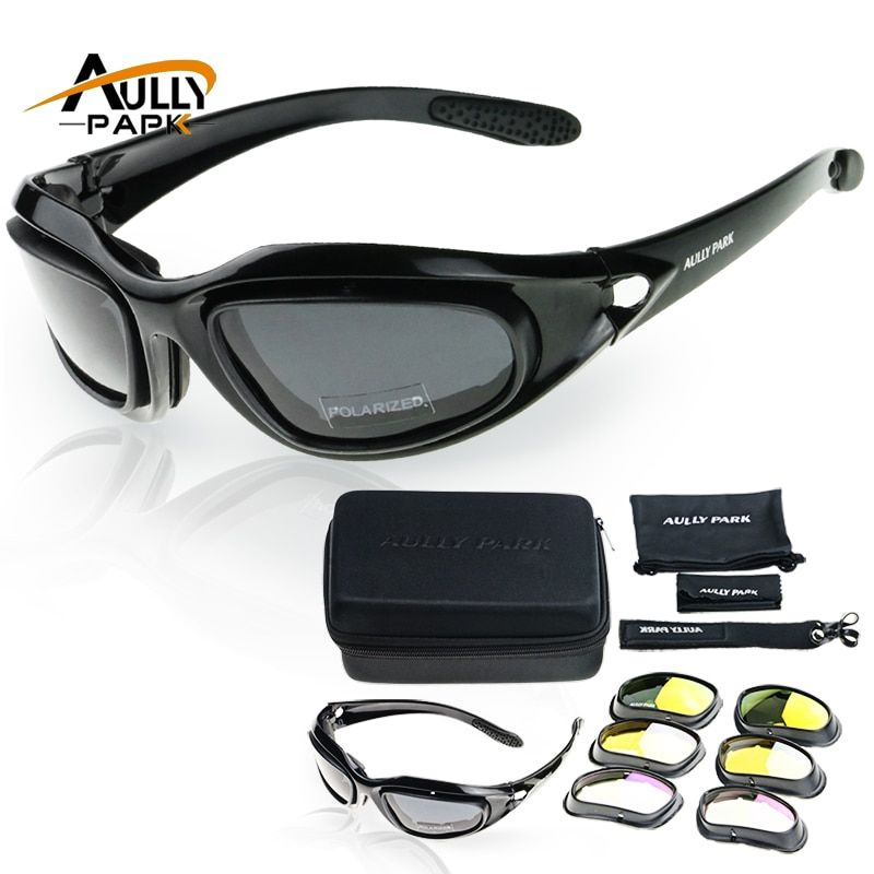 Motorcycle <font><b>Glasses</b></font> Army Polarized Sunglasses For Hunting Shooting Airsoft EyewearMen Eye Protection Windproof moto Goggles UV400