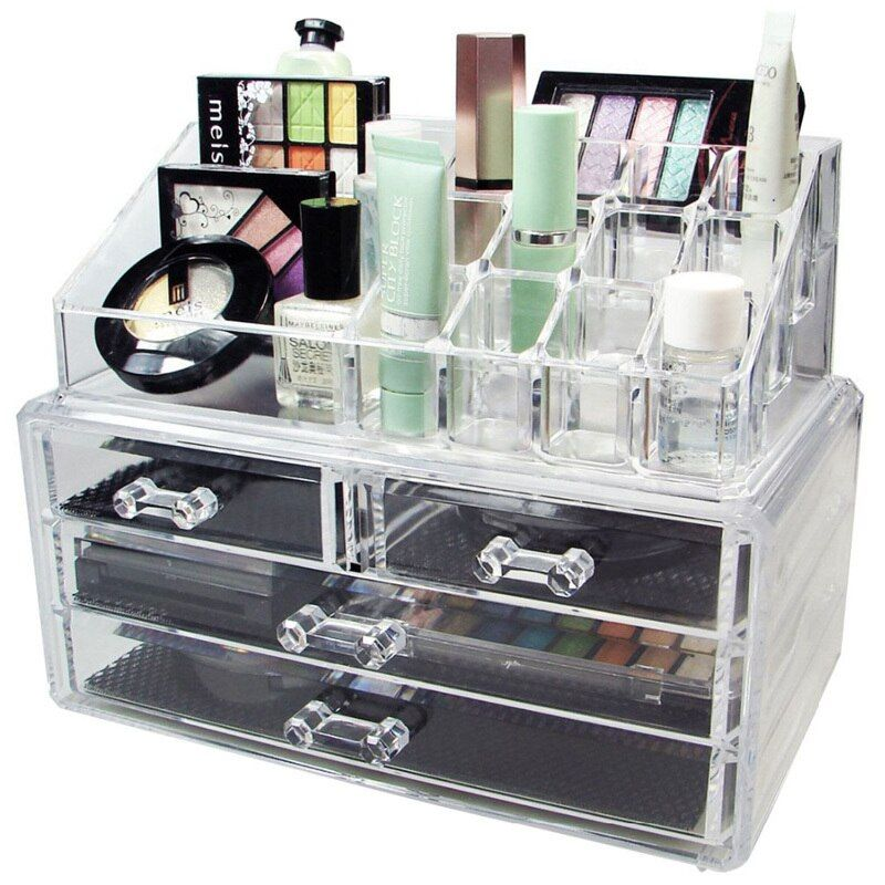 Large Acrylic Drawer Jewelry Cosmetic Organizer/High Quality Competitive Price Hot Sale New Transparent Make Up Holder Box