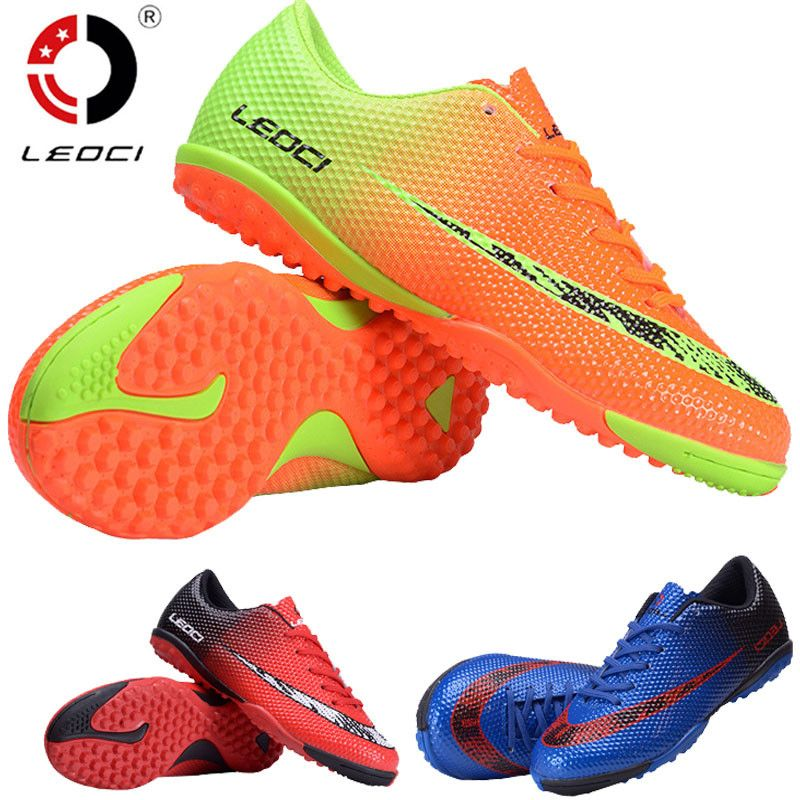LEOCI Soccer Football Shoes Unisex Football Boots indoor football shoe for adult children's 33-44 size Train Sneakers chuteiras