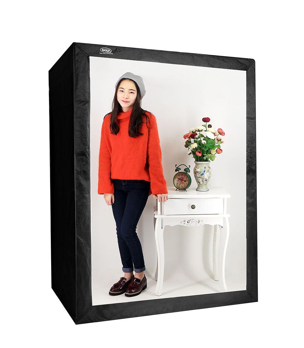 DEEP LED Professional Portable Softbox Box 120 * 80*160cm LED Photo Studio Video Lighting Tent with LED Light