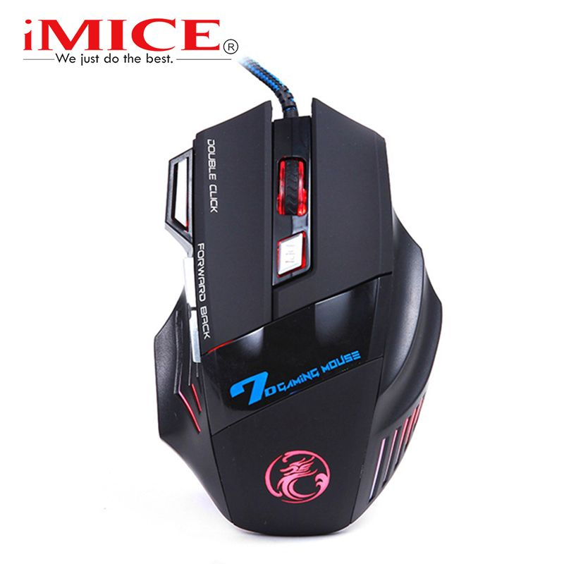 imice USB Gaming Mouse 7 Button 5500DPI LED Optical Wired Cable Computer Mouses Gamer Mice For PC Laptop Desktop X7 Game Mouse