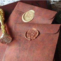 5 pcs/lot Creative Style Européen Vintage Kraft Enveloppe de Papier Pour Carte Postale Nouveauté Point Enfants Cadeau Papeterie Étudiant 820