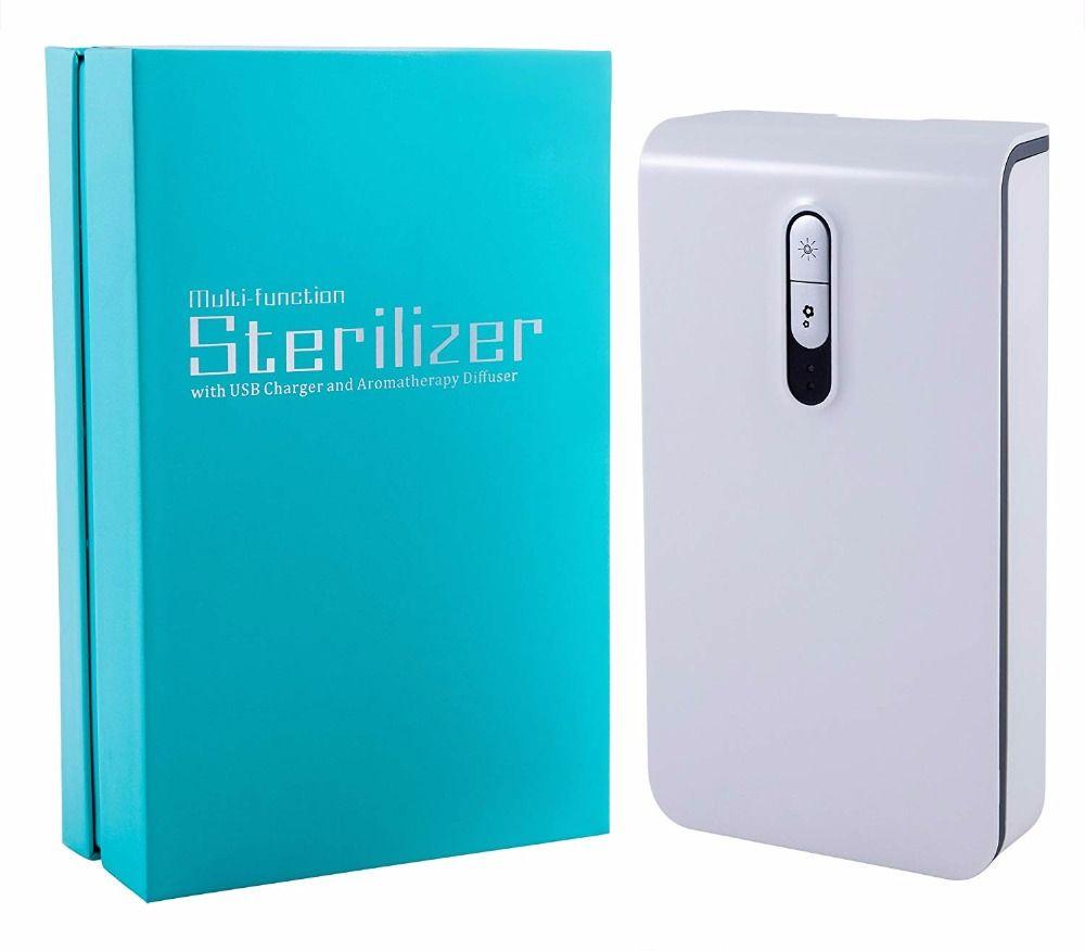 Smart Telefon UV Sanitizer Tragbare UV-Licht Handy Sterilisator Reiniger Aromatherapie Funktion Desinfektor mit stehen für handys