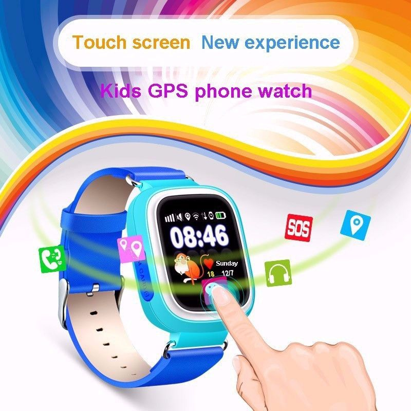Best Smart Watch Q90 GPS Kids Bracelet Bluetooth Samrt Band Safe Monitor GPRS Wifi GPS Watches Smartphone For Children Baby Gift