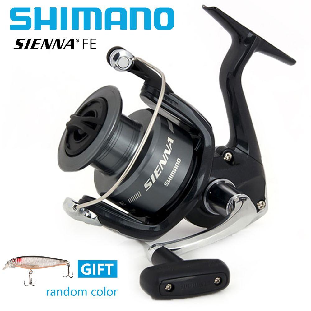 Shimano Sienna FE 5.0:1/5.2:1 Spinning Fishing Reel 1+1BB Front Drag XGT7 Body Saltewater Carp Fishing Reel With Free Gift