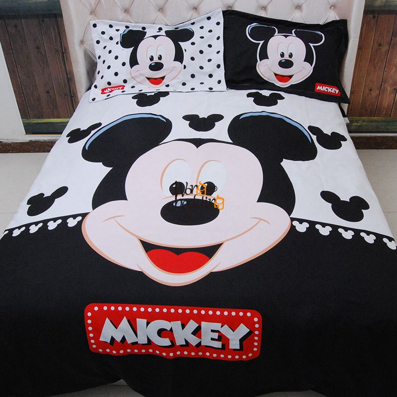Home Textiles Adult Kids Boys Disney Mickey Mouse 3D Bedding Set Queen King Size Duvet Cover Set Comforter Cover/Bedroom Sets