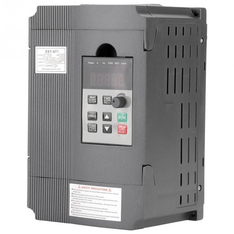 220V Variable Frequency Drive Single-phase Variable Frequency Drive VFD Speed Controller for 3-phase 1.5kW AC Motor Inverter